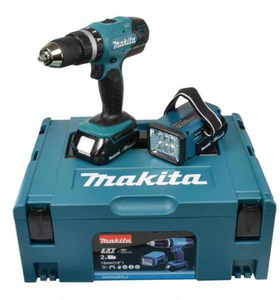 Makita Akku-Schlagbohrschrauber - DHP453RYLJ - 18V - im MAKPAC Gr.3 +2x1,5Ah