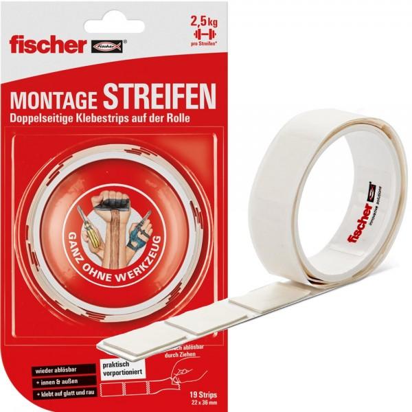 Fischer MONTAGE STREIFEN - 545956 - 19 Stück - max. 25kg pro Streifen
