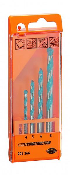 HAWERA Bosch 4 teiliger Bohrersatz MultiConstruction