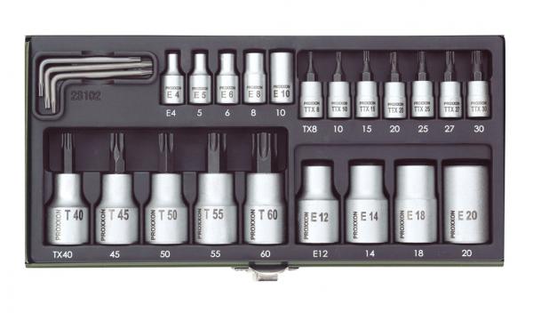 Proxxon TX-Steckschlüssel-Spezialsatz, 24-teilig - 23102