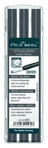 Pica BIG Dry - For-All-Ersatz-Minen - universell - Graphit - 6030