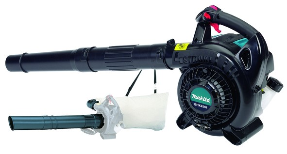Makita Benzin-Gebläse - BHX2501V - inkl. Absaugset - 4-Takt - 1,10PS