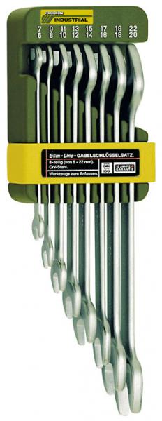 Proxxon SlimLine-Doppelmaulschlüsselsatz, 8-teilig 6- 21mm - 23800