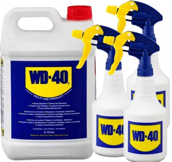 WD 40 WD40 5 liter Rostlöser Schmiermittel Multifunktionsöl + 3x Zerstäuber