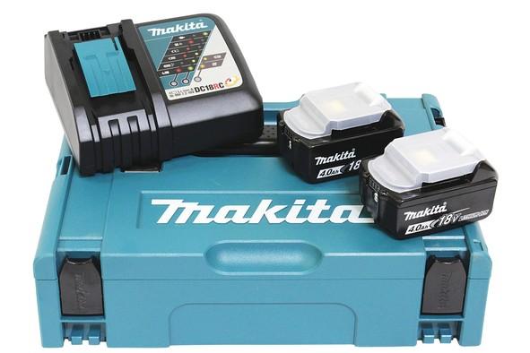 Makita Ersatzakku-Set BL1840B+DC18RC - 18V/4,0Ah - 197494-9