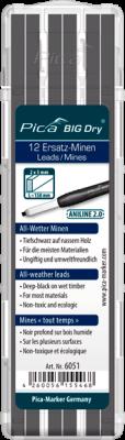 Pica BIG Dry - All-Wetter-Ersatz-Minen - Holz - 6051