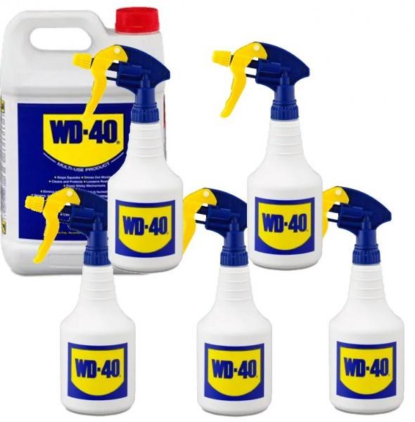 WD 40 WD40 5 liter Rostlöser Schmiermittel Multifunktionsöl + 5x Zerstäuber
