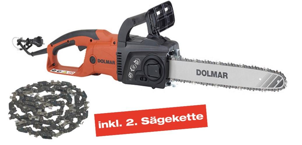 DOLMAR Schwert 40 cm 2 Sägeketten für DOLMAR ES-174 TLC