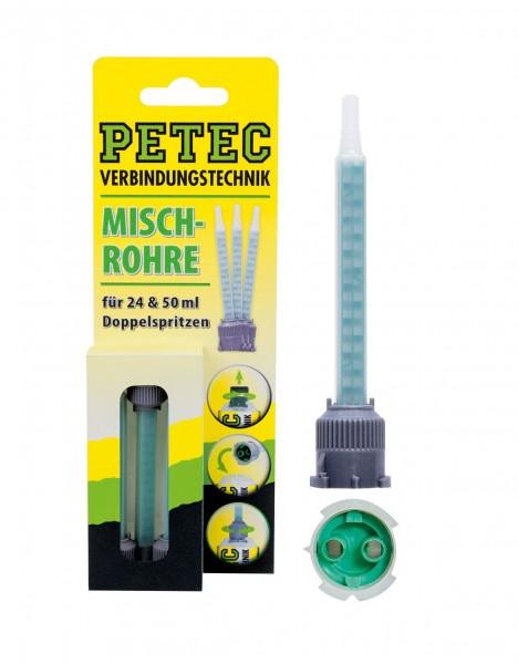 Petec 98603 Mischrohre für 24 und 50ml Doppelspritzen - 3 Stück Inhalt