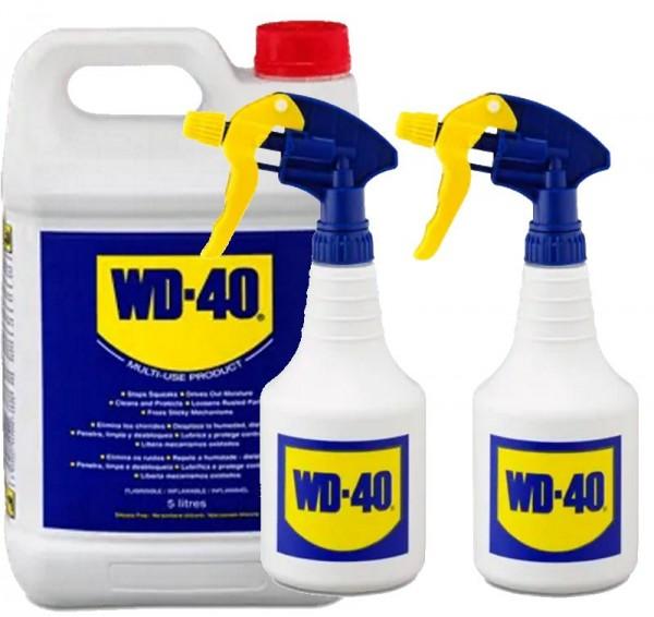 WD 40 WD40 5 liter Rostlöser Schmiermittel Multifunktionsöl + 2x Zerstäuber