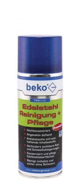 Beko TecLine Edelstahl Reinigung + Pflege - 400 ml - pflegt und vielseitig