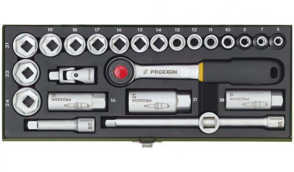"""PROXXON 23110 Satz Steckschlüssel Nusskasten Knarrenkasten 10mm (3/8"""")"""