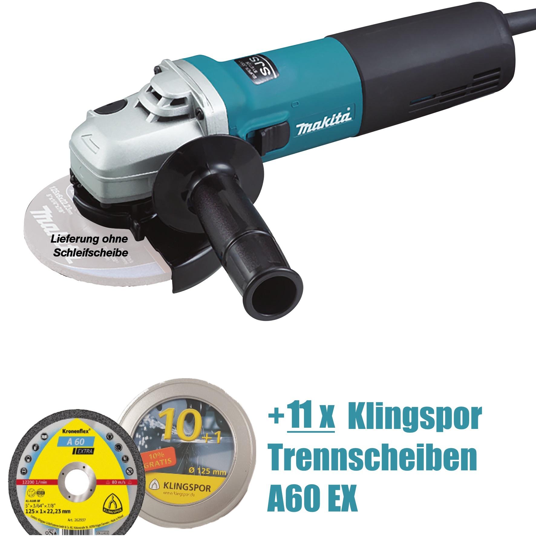 Makita Winkelschleifer 9565 HRZ 125 mm 1.100 W 9565HRZ