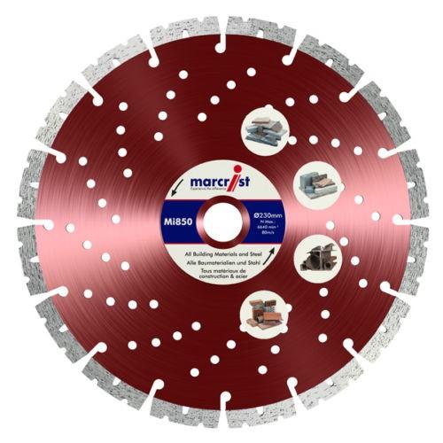 Marcrist Diamanttrennscheibe - 230mm - für Beton und Stahl - Mi850