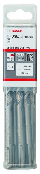 Bosch SDS-PLUS Hammerbohrer plus-7 10er Pack - Ø 10x 100/165mm