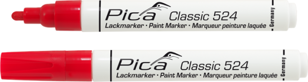 Pica Classic - Industrie Lackmarker - rot - 524/40