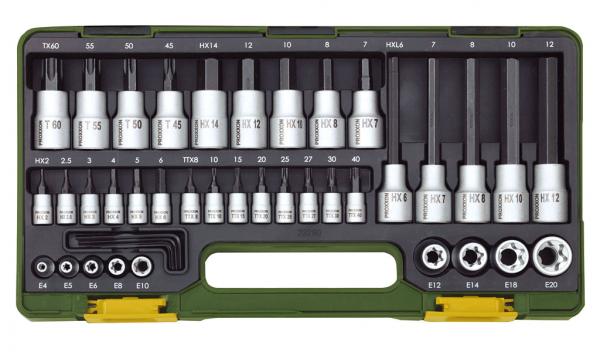 Proxxon Spezialsatz für TX- und Innensechskantschrauben, 42-teilig - 23290