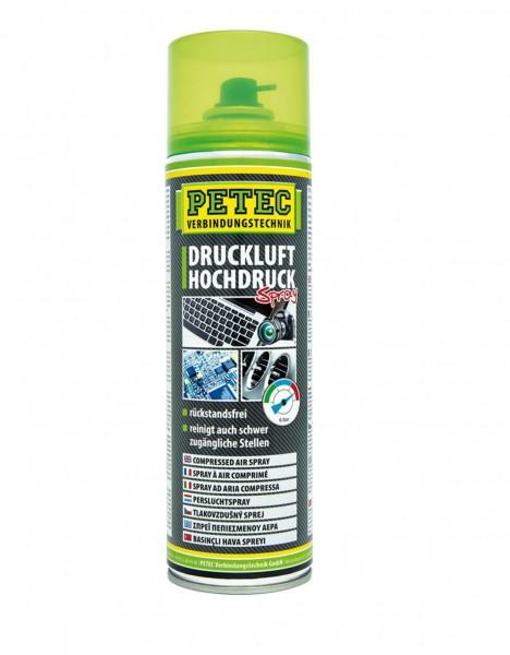 Petec 72150 Druckluftspray bis 6 bar - farblos - 400ml Dose - 360 Grad Ventil