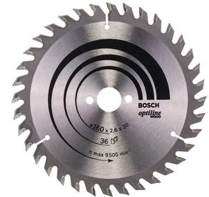 Bosch Optiline Wood Kreissägeblatt - 160x20x2,6mm - 36 Zähne