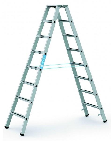 ZARGES Stehleiter Saferstep B - 41308 - 8 Sprossen - Leiterhöhe 2,10 Meter