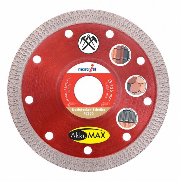 Marcrist RC850 AkkuMAX Diamanttrennscheibe für Dachdecker - 125mm - für Ziegeln