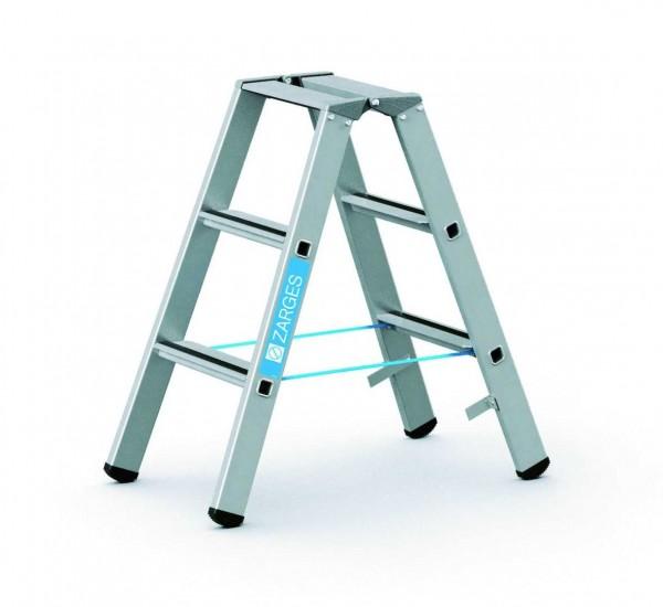 ZARGES Stehleiter Saferstep B - 41303 - 3 Sprossen - Leiterhöhe 0,8 Meter