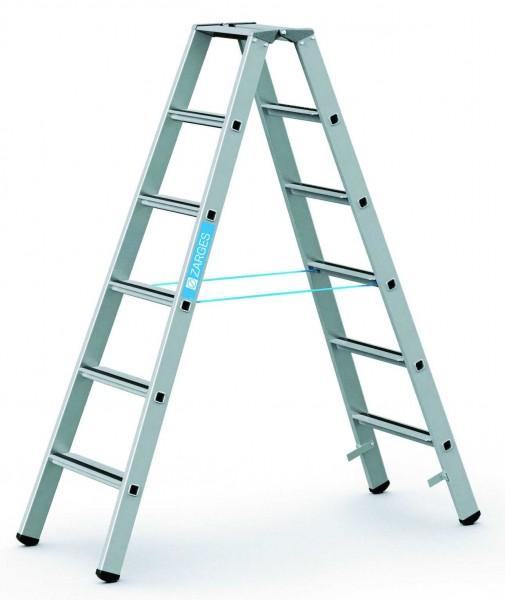 ZARGES Stehleiter Saferstep B - 41306 - 6 Sprossen - Leiterhöhe 1,58 Meter