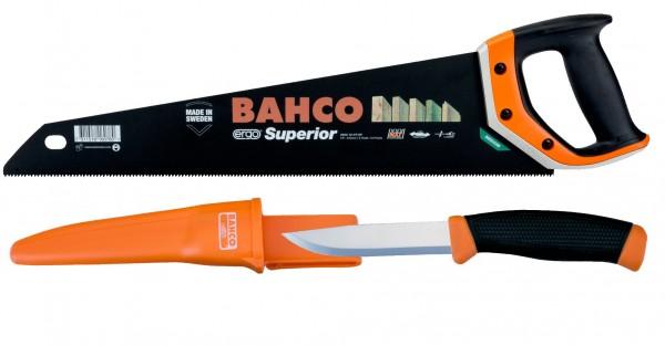 BAHCO Fuchsschwanz 475mm 2600-19-2444-8P + Bahco Messer 2444 - 22cm