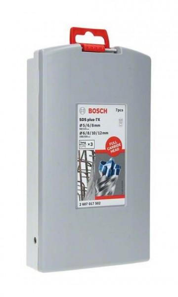 Bosch SDS plus 7X Robust Line Bohrerset für Stein - 7-teilig - 5/6/8/8/10/12mm
