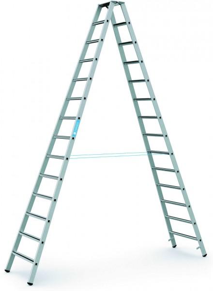 ZARGES Stehleiter Saferstep B - 41314 - 14 Sprossen - Leiterhöhe 3,67 Meter