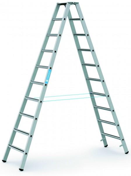 ZARGES Stehleiter Saferstep B - 41310 - 10 Sprossen - Leiterhöhe 2,62 Meter