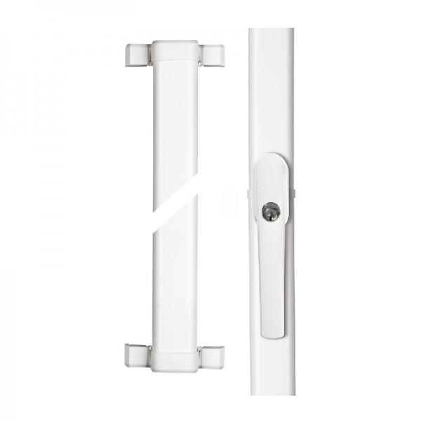 ABUS Fenster-Stangenschloss FOS 550 weiß - 1 x FOS550 mit 0,75/0,75m Stangenset