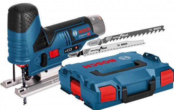 Bosch Akku-Stichsäge GST 12V-70 - Solo - L-BOXX 102 - inkl. T144D + T308B
