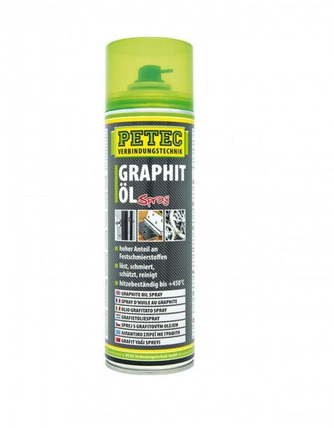 Petec 72250 Graphitöl Spray - 500ml - Spraydose - bis 450 Grad