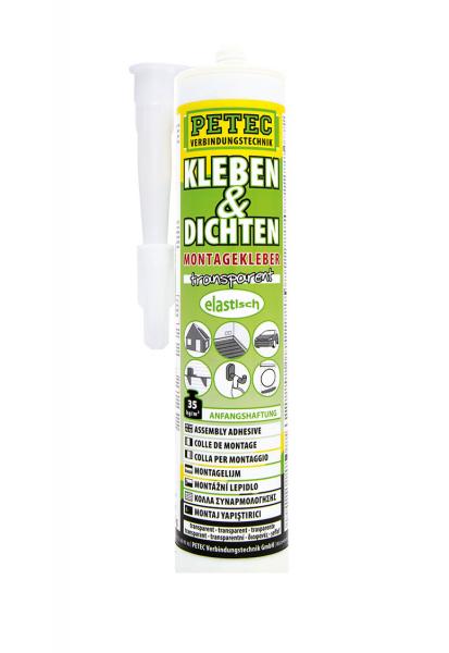 Petec 94929 Montagekleber Kleben + Dichten - 290ml - Kartusche - transparent