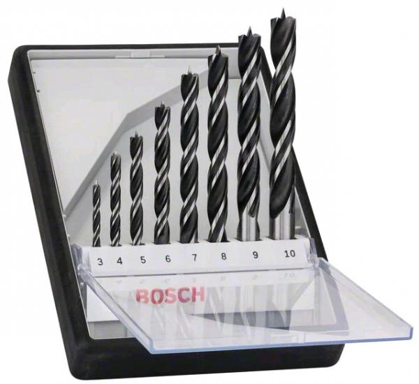 Bosch 8tlg. Robust Line Holzspiralbohrer-Set - 2607010533