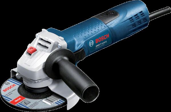 Bosch Winkelschleifer GWS 7-115 E - 720 Watt - 1,9 kg - 115mm - SOLO