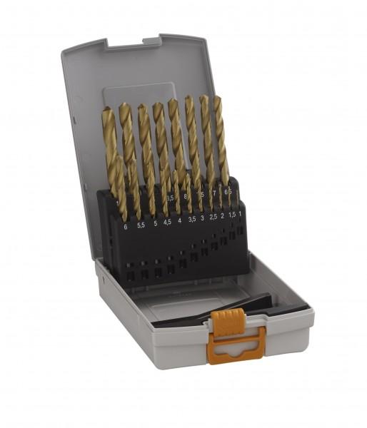 HAWERA Bosch Metallspiralbohrer HSS-TIN Bohrersatz Set 1-10 mm - 19-teilig - titan-nitrid