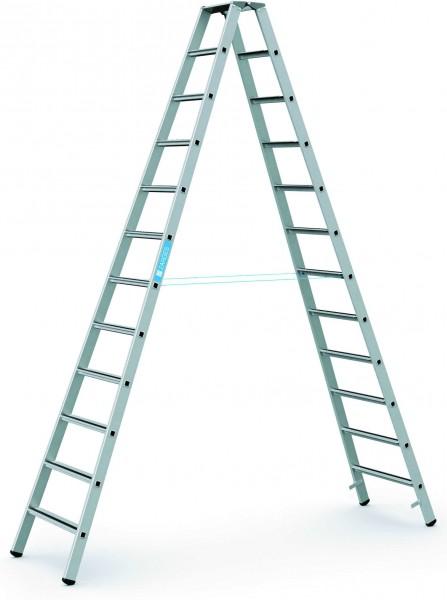 ZARGES Stehleiter Saferstep B - 41312 - 12 Sprossen - Leiterhöhe 3,15 Meter