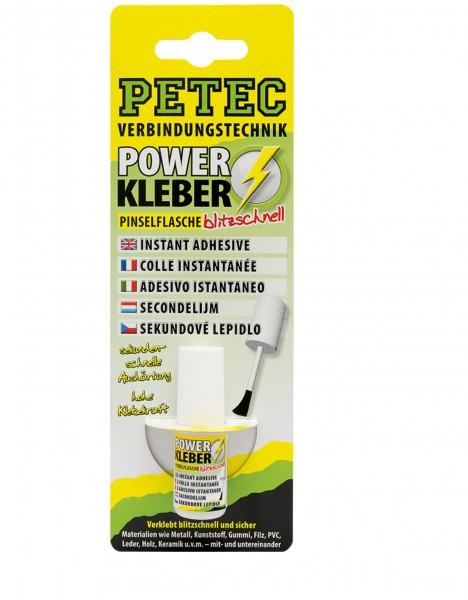 Petec 93404 POWER Kleber blitzschnell - 4 Gramm - Pinselflasche