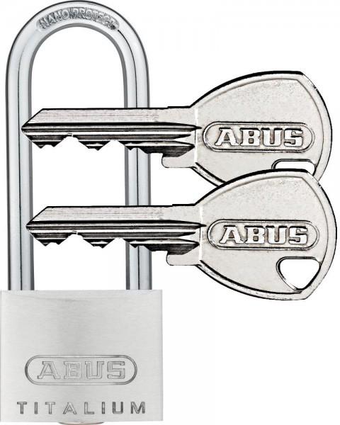 ABUS Titalium Vorhangschloss Vorhängeschloss - 64TI 40HB63 - inkl. 2 Schlüssel