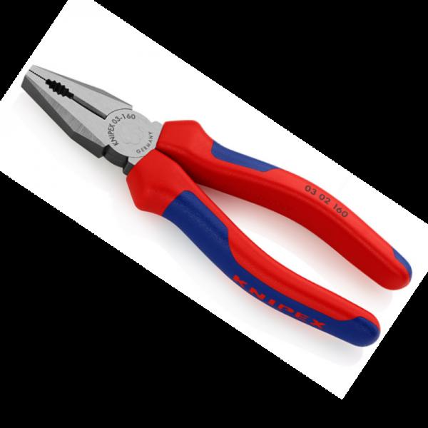 KNIPEX 0302160 Kombizange mit Mehrkomponenten Hüllen 160mm