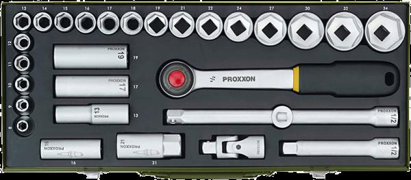 "Proxxon Steckschlüsselsatz 1/2"" 8-34mm 29-tlg. 23000 Knarrenkasten"