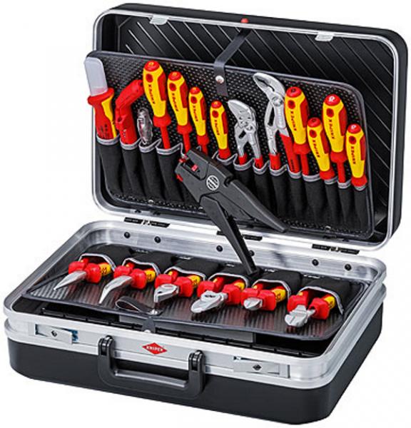 Knipex 00 21 20 Werkzeugkoffer Elektro - 20-teilig - bestückt - 7,2kg