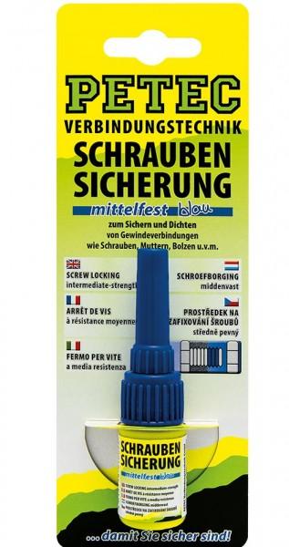 Petec 91005 Schraubensicherung mittelfest blau - 5 Gramm Flasche