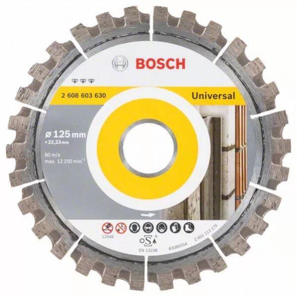 Bosch Diamanttrennscheibe Best for Universal - 125mm - 2 608 603 630