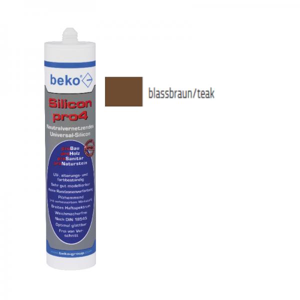 Beko pro4 Premium-Silicon 310ml - blassbraun / teak