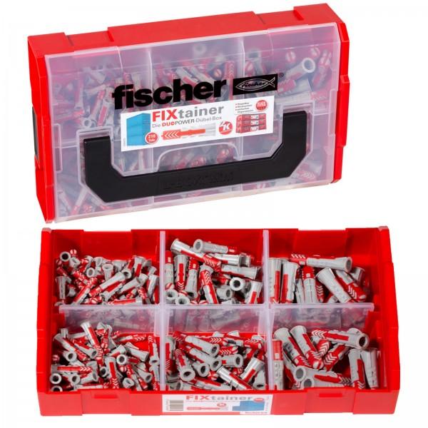 Fischer Dübel DUOPOWER FIXtainer Sortimentsbox - 535968 - 210 Stück