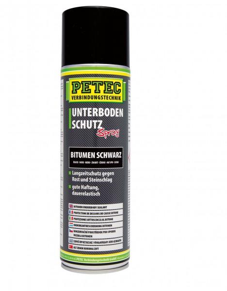 Petec 73150 Unterbodenschutz Bitumen - 500ml - Spraydose - schwarz