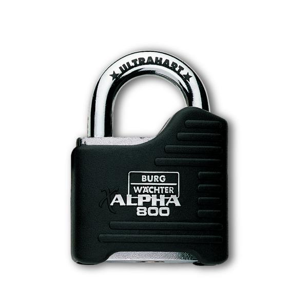 Burg Wächter Vorhangschloss Alpha 800/65 Ultrahart mit 2 Schlüssel